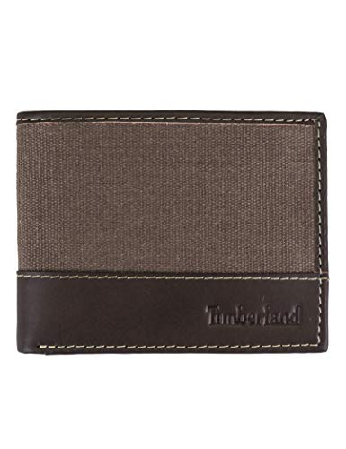 Timberland Men's Baseline Canvas Passcase, Brown, One Size