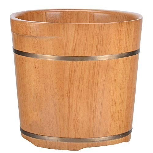 Amazing Deal NJYT Foot Bath Wooden Foot Spa Barrels Pedicure Basin Fragrant Thickening Foot Tup Soli...