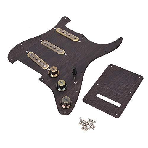 SSS Pickup Pickguard, Vintage und elegantes Metallmaterial Loaded Pickguard, Gitarrenliebhaber E-Gitarren-Lernende für zu Hause