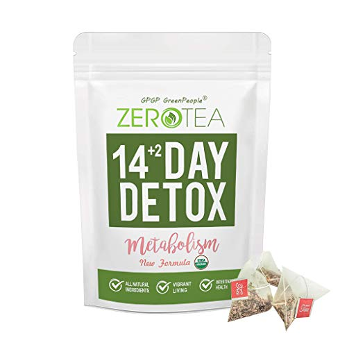 Zero Tea Detox Tea, 14+2 Day Weight Loss Tea for Women&Men, Diet Herbal Tea for Colon Cleanse, GPGP GREENPEOPLE Skinny fit Tea for Slimming (14+2 Tea Bags)