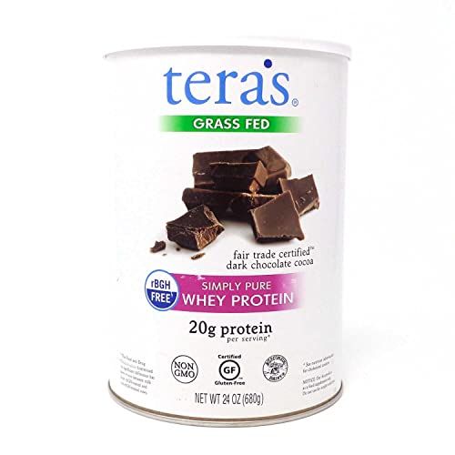 teraswhey Simply Pure Whey Protein, Dark Chocolate, 24 oz