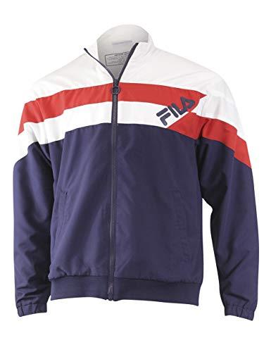 Fila Slade Track Jacket White/Peacoat/Chinese Red LG