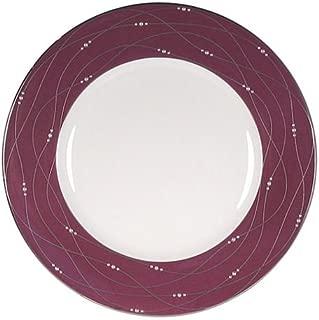 Royal Doulton Precious Platinum 9-Inch Accent Plate, Raspberry