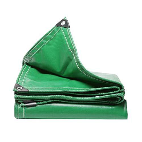 Dall bâche Bâche Plus Épais Racloir À Couteau PVC Tissu Anti-Pluie Toile De Camion (Couleur : Vert, Taille : 6×6m)
