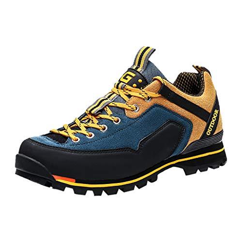 Kolylong® Wanderschuhe Herren rutschfeste Trekkingschuhe Bequeme Leichte Wasserdicht Verschleißfest Atmungsaktiv Laufschuhe Outdoor Schuhe Männer für Sport Hiking Trekking-& Wanderhalbschuhe
