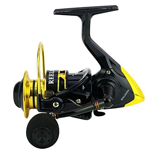 AIWKR Carretes de pesca, carretes de pesca suaves y potentes, en deportes al aire libre, 1000, 2000, 3000, 4000, 5000, 6000, 7000