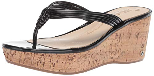 Circus by Sam Edelman Women's Ruby Wedge Sandal, Black Patent, 8 M US