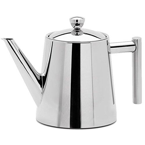 Weis Teekanne mit Teefilter 1,1 L hochglänzend, Edelstahl, Silber, 24 x 14.5 x 17 cm