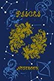 Pisces Horoscope Journal: Fish Notebook - A Great Pisces Gift , Dot Lines , Ruled Writing Diary-journal 120 pages.