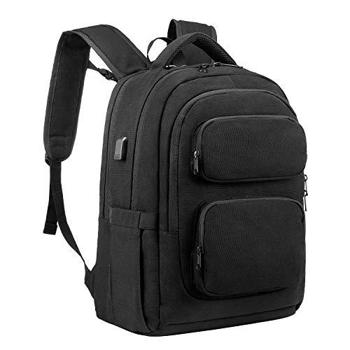 LOVEVOOK Laptop Rucksack Herren 15,6 Zoll Schulrucksack Anti Diebstahl Jungen Teenager Daypack mit Usb-Ladeanschluss Business Laptoptasche für Arbeit Schule Universität,Schwarz