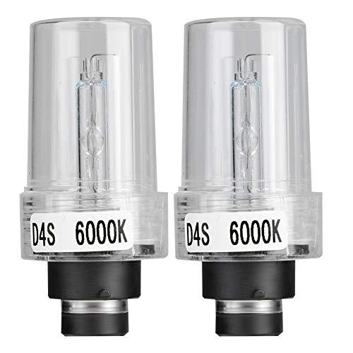 Lámpara de xenón, Aukson 2 piezas bombilla halógena D4S 6000 K 35 W bombillas de repuesto para faros delanteros de coche