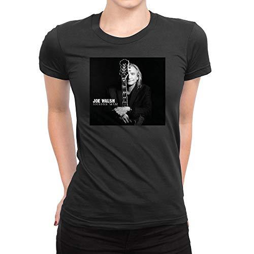 SHIQINQ Damen Joe Walsh Analog Man Summer Short Sleeve High Low Loose T Shirt Basic Tees Tops XX-Large