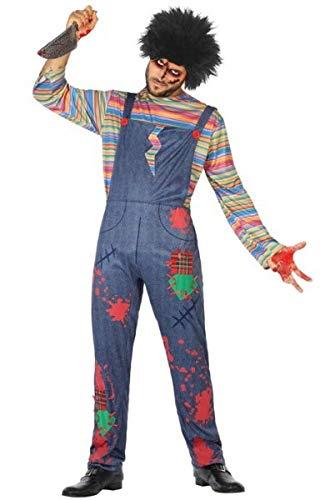 Atosa Disfraz Mueco Sangriento XS-S Adulto, Multicolor, Hombre