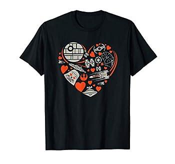 Star Wars Valentine s Day Heart Galaxy T-Shirt