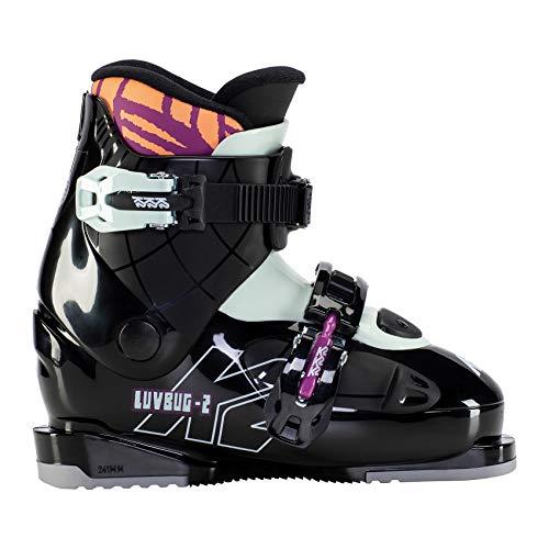K2 Skis Mädchen Luvbug - 2 Skischuhe, Black-Mint, Mondo: 20.5 (EU: 33 / UK: 13.5 / US: 1)