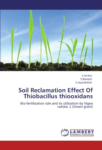 Soil Reclamation Effect Of Thiobacillus thiooxidans: Bio-fertilization role and its utilization by Vigna radiata .L (Green gram)