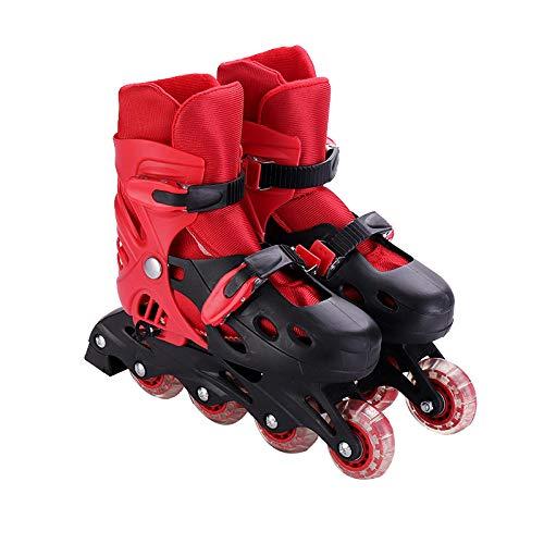 WALLHANG Inline Skate,Verstellbare Rollschuhe für Kinder,Atmungsaktives Netzgewebe,Inline-Skates für Jungen und Mädchen - rot - M