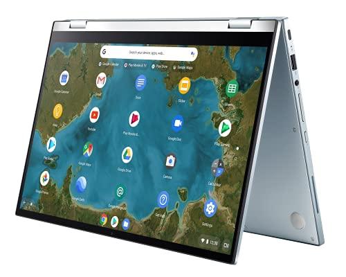 ASUS Chromebook Flip C433TA-AJ0199 Laptop 35.5 cm (14 Zoll, Full HD, 1920x1080, Touch) Notebook (Intel Pentium Gold 4415Y, 8GB RAM, 64GB eMMC, Intel HD-Graphics 615, Chrome OS) Silver