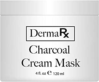 DermaRx Charcoal Cream Mask with Natural Ingredients,4 oz - Activated Charcoal Mask for Face