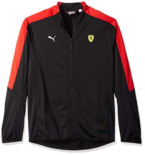 PUMA Mens Formula 1 Scuderia Ferrari Track Jacket, Puma Black, XL
