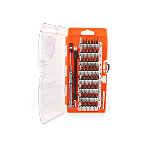 Juego de destornilladores de precisión de 58 piezas, kit de herramientas de reparación multifuncional de acero S2...