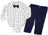 Lily & Jack - 3 TLG Baby Jungen Bekleidungsset Body + Lange Hose + Fliege aus Baumwolle Gr. 86-92 (18-24M)