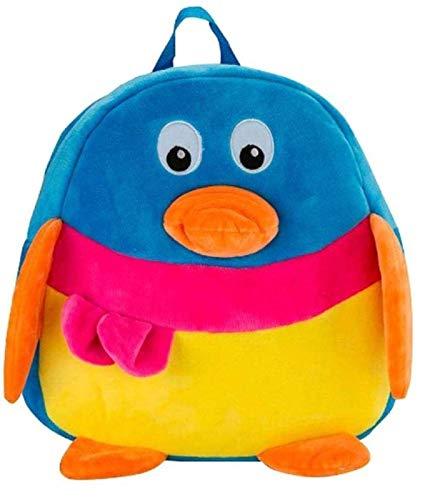 Blue Tree Cute Kids Backpack Toddler Bag Plush Animal Cartoon Mini Travel Bag for Baby Girl Boy 1-6 Years (Blue-Penguin)