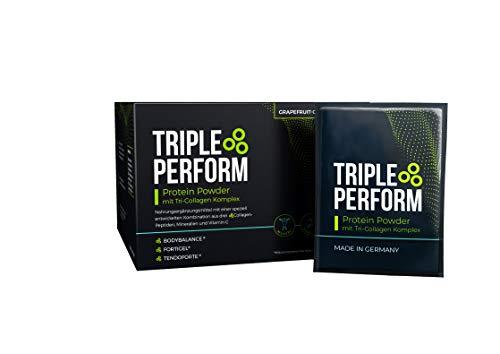 Triple Perform Protein Powder - Nahrungsergänzungsmittel zur Unterstützung von Muskelaufbau, Regeneration, Fettabbau und Vorbeugung von Verletzungen, 30 Tagesration