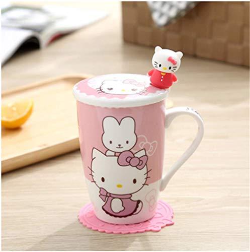 mingyuTazze Premium in Ceramica caffè/Carta da tè perfette per la Tua casa, caffetteria, Posto di Lavoro, Festa 11.7 * 12cm Rosa