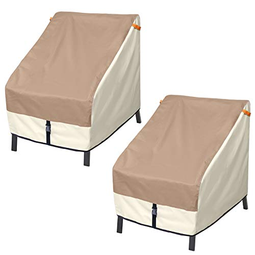 Porch Shield Patio Chair Covers - Waterproof Outdoor Lounge Deep Seat Cover 2 Pack - 34W x 37D x 36H inch