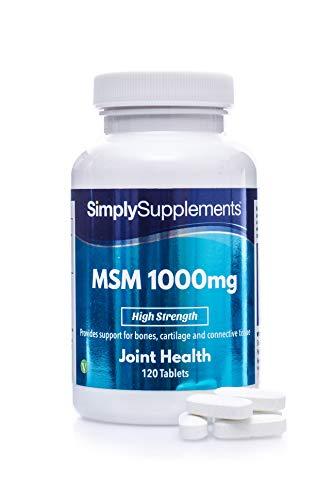 MSM 1000 mg - 120 compresse - 2 mesi di trattamento - SimplySupplements