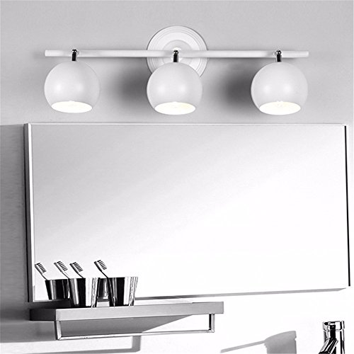 acero inoxidable y acr/ílico IP44/ clase energ/ética A + + Dorado aplique LED para espejo de ba/ño rectangular /Ángulo de 180/Ajuste L/ámpara de espejo t/élescopable