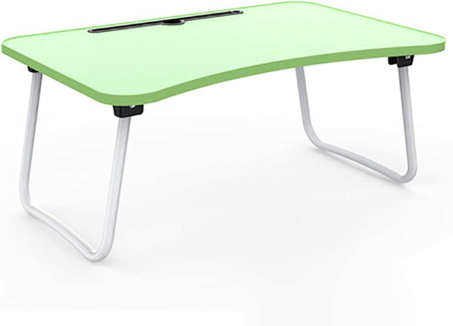 Xiao Jian Folding Table - Laptop Desk Desk Bed Small Table Folding Table Bed Table Lazy Simple Home Student Dormitory Table - Size  60x40x28cm Folding Table (color   Green, Size   B)