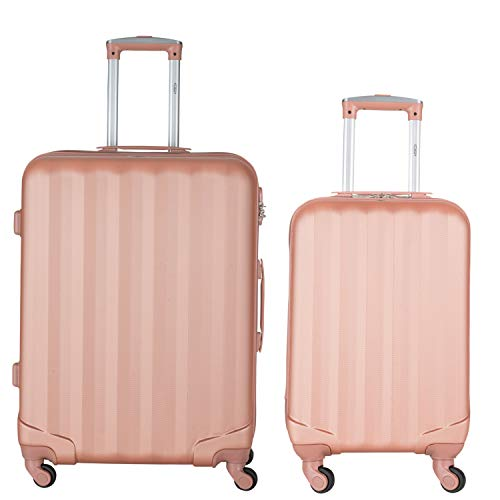 Flight Knight Suitcases Maximum for Delta, Virgin Atlantic, Ultra Lightweight 4 Wheel ABS Hard Case Suitcases Hand Luggage and Hold Single and Set Options Approved for 48 Airlines Inc BA and TUI.