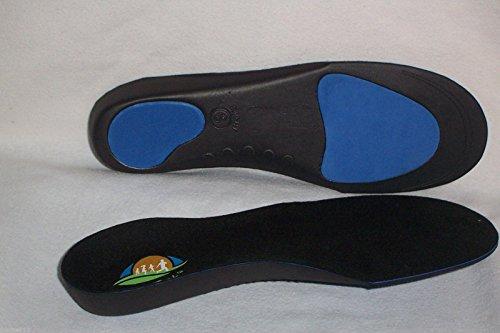 3pares de FootTrek alta Perfomance de longitud completa máximo apoyo semirrígido plantillas ortopédicas para fascitis plantar, Shin slints, dolor en el talón, rodilla y dolor de espalda
