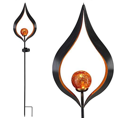 Deuba Gartenleuchte Solar Laterne Flamme Gartenstecker Solarleuchte Flammen Effekt Garten Beleuchtung Outdoor