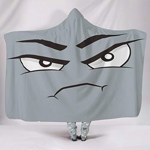 RQPPY Denkendes Gesicht Kuscheldecke/Wohndecke Anti-verfärben für Erwachsene und Kinder Decke White 150x200cm