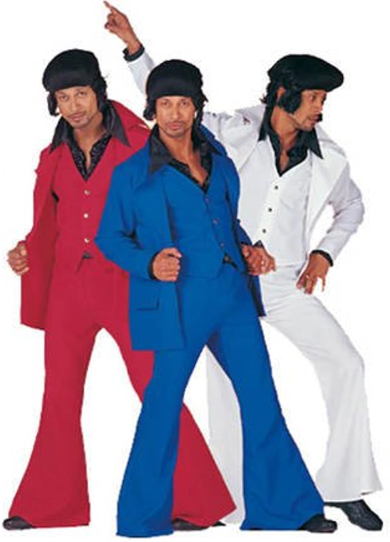 70s 80s years Travolta Samstagnacht Discoanzug Party Red Size 60