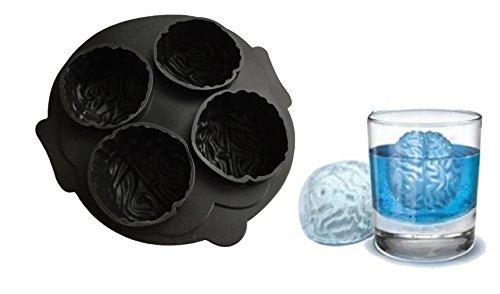 Halloween Gehirn Silikonform Backform Schokoladenform Pralinenform Cupcake Keks Kuchen Basteln Backen Dracula Verzieren Grusel Geister Formen Eiswürfelform von ROYAL HOUSEWARE
