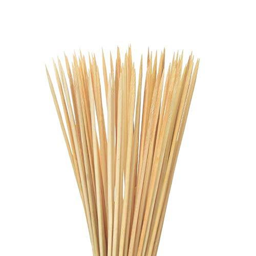 TKG Bamboo Grill Shish 100ST Woodstick Accesorios de Parrilla de Barbacoa de maíz Instrumentos Holder,Beige