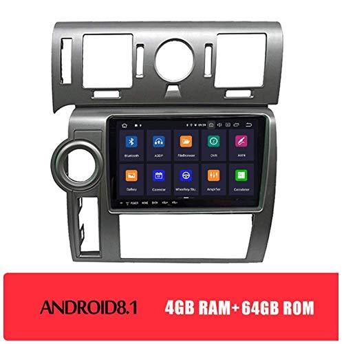 SADGE NAV Autoradio Android 2 DIN Bluetooth Riproduci Dvd - Applicabile per Hummer H2 2008, Radio autoradio 9.66 Pollici di Navigazione GPS unità Principale Dab
