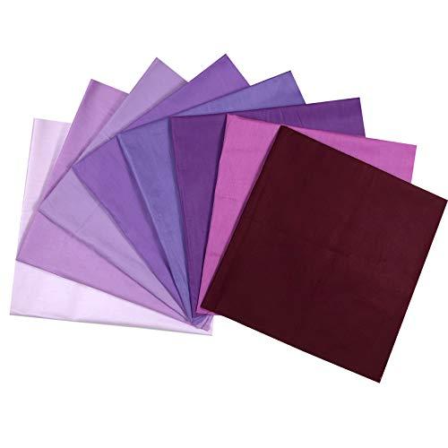 Eamoil Tessuto Cotone Stoffa Patchwork Quadratini di Stoffa Tessuti Quadrati di Cotone per Lavoretti Cucito 8 Pezzi 50 * 50 cm