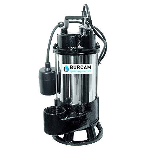 BURCAM 400416T 3/4HP Stainless Steel Sewage Grinder Pump