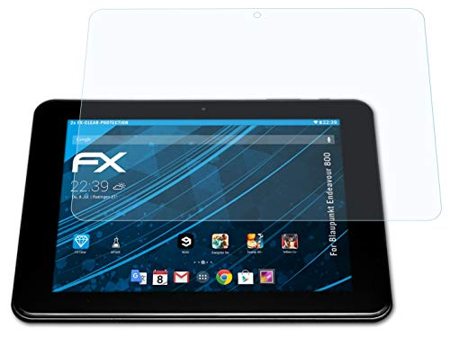 atFolix Schutzfolie kompatibel mit Blaupunkt Endeavour 800 Folie, ultraklare FX Bildschirmschutzfolie (2X)