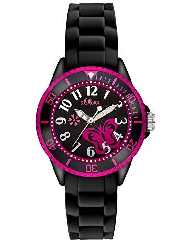 S.Oliver Mädchen Analog Quarz Armbanduhr SO-2993-PQ