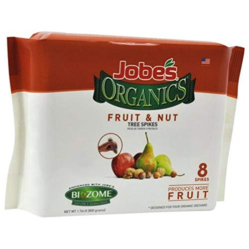 Jobe's Organics Fertilizer Spikes (Fruit and Nut Tree, 8 Spikes)