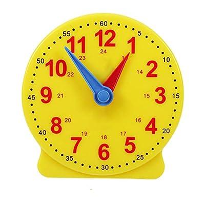 FCBF Reloj Didáctico Material Didáctico para Niños Matemáticas Montessori Estudiantes Utensilios Aprendizaje Saber Tiempo Material Didáctico para Niños Reloj De Aprendizaje Reloj Escolar 13 Cm de FCBF