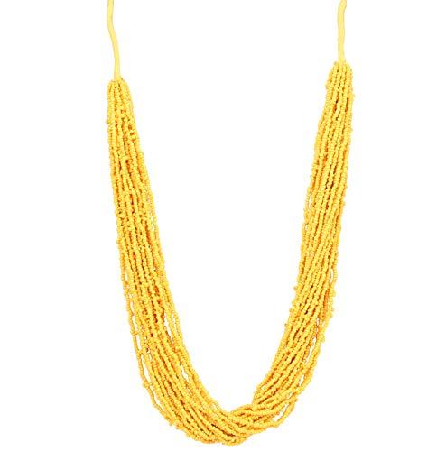 Touchstone Nuevo Indian Bollywood Desire exclusivo hecho a mano con aspecto encantador, exclusivo y magnífico collar de joyería de diseño exclusivo de 20 hilos para mujer., Plástico,