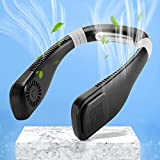 iYunLife Neck Fan - 2021 Neck Air Conditioner, Personal Fan,Bladeless Neck Fan,360° Cooling,3 Speed,Low Noise,Lightweight,Hands Free,Wearable Neck Fan for Indoor & Outdoor,Long Use Time