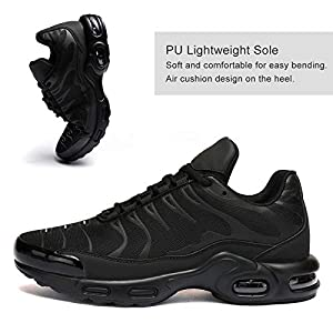 Mevlzz Men's Running Shoes Air Low Top Shoes for Men Basketball Sneakers Fashion Tennis Sport Fitness Cross Trainers All Black 11